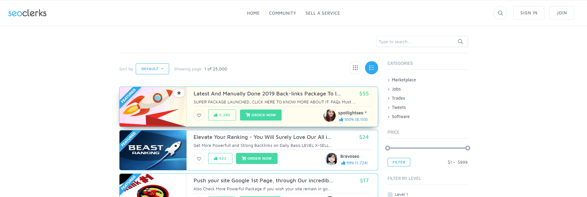 Buying Traffic From SEOClerks.com