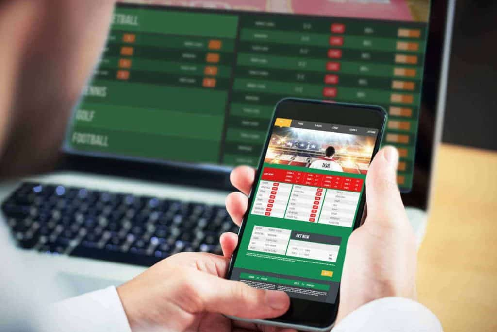 sports bet results on mobile phone